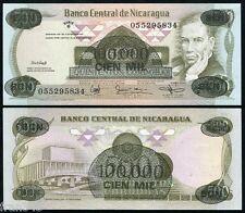 NICARAGUA 100000 Córdobas 1987 sobre 500 Pick 149 SC  /  UNC