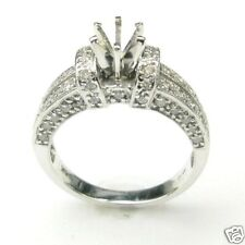 1 CARAT DIAMOND RING SEMI-MOUNTED IN 14K WHITE GOLD