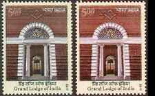 INDIA Free Masons Grand Lodge Star of David Square 2 Shades Error MNH NEW