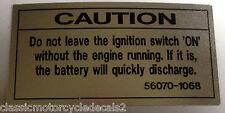 KAWASAKI ZR550 ZR750 Zephyr Calcomanía de advertencia de precaución conmutador de encendido
