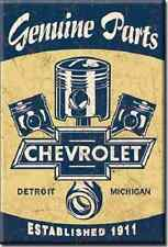 New  Nostalgic Chevrolet Genuine Parts Detroit 2 by 3 Inch  Sign Magnet