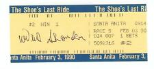 Willie Shoemaker signed Horse Race Betting Ticket from Last Ride 2/3/90 JSA COA