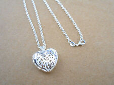 925 Sterling Silver Plating Women Fashion empty Heart Pendant Necklace