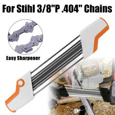 """2 IN 1 Easy Chainsaw File Chain Sharpener Kits 7/32 5.5mm For Stihl 3/8""""P 404"""""""
