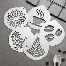 5 Pcs Coffee Stencils Portable Cake Decorating Tools for Bar