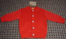 TIMBERLAND  BABY BOYS FRENCH RED COTTON CARDIGAN  SZ 3 MONTHS NEW WITH TAGS