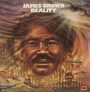 LP JAMES BROWN REALITY RARE ERREUR LABEL PD 6039 POLYDOR 1974 EX VOIR