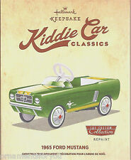 Hallmark 2015 1965 Ford Mustang Kiddie Car Classics Christmas Repaint Ornament