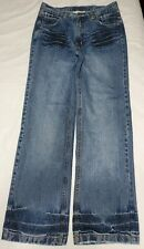 Southpole Mens Relax Fit Straight Leg Distressed Blue Jeans Size 34x33