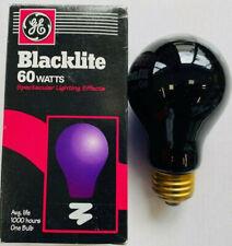 2 BLACK LIGHT BULBS LIGHT PARTY INCANDESCENT 120V 60W LIGHT Bulb