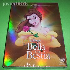 LA BELLA Y LA BESTIA CLASICO DISNEY NUMERO 30 DVD NUEVO Y PRECINTADO SLIPCOVER