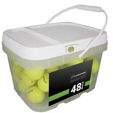 48 Titleist DT TruSoft Yellow Mint Used Golf Balls AAAAA *In a Free Bucket!*