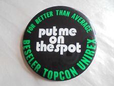 Vintage Beseler Topcon Unirex for Better Than Average Camera Advertising Pinback