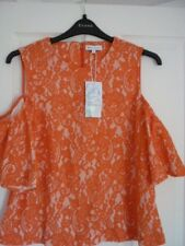 Warehouse Orange Beige Lace Cold Shoulder Top. UK 16 EUR 42-44 US 12.