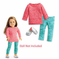 "American Girl TRULY ME COOL CORAL OUTFIT for 18"" Dolls Clothes Shirt NEW"