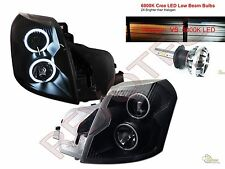 Built-In LED Low Beam 03-07 Cadillac CTS Black CCFL Halo Projector Headlights