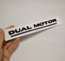 3D Black Dual Motor Rear Trunk Tailgate Badge Emblem Sticker Fit Tesla Model 3