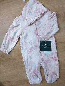 Laura Ashley Baby Girls Bodysuit And Hat Set Age 3-6 Months BNWT