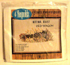 New Sealed Reynolds Crewel Embroidery Kit R657 Old Wagon