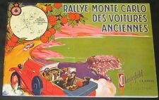 1974 Rallye Monte Carlo Des Voitures Anciennes-25th Anniversary Program