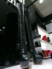 Giaro Plateau Overknee Stiefel Thigh High High Heel Platform Boots Schwarz Luisa