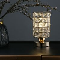DECOR INDUSTRIAL CRYSTAL BEDSIDE DESK LIGHT STUDY OFFICE DIMMABLE TABLE LAMP