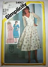 "Gunne Sax Dress Pattern, Simplicity 5490, Bust 31 1/2"", Waist 24"", Hip 33 1/2"""