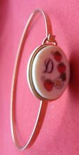 """/20 - 14K Gold Plated BRACELET scrap or wear 6.5"""" Circumference, Initial 'D'"""