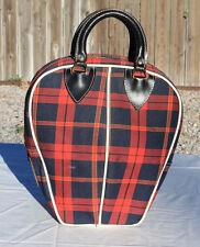 Vintage Plaid 1 ball bowling bag,  Purse, Tote,  Handbag, Carrying case, Totebag