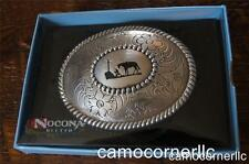 Nocona Cowboy Praying at the Cross Belt Buckle M & F Western 37056
