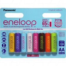 Eneloop rechargeable NiMH AAx8 Limited Edition Tropical Colours