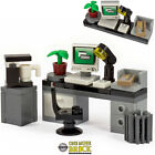 Office Desk with Computer, Keyboard, Letter, Coffee | Kit Made With Real LEGO