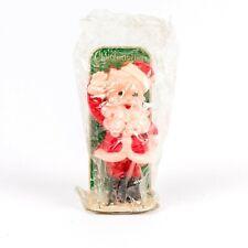 "Vintage Sealed Gurley Suni Jolly Santa Wax Candle Christmas Decoration 5"" Tall A"