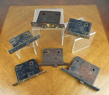 Lot of Six Antique Mortise Door Lock Mechanisms for Restoration or Parts AS IS