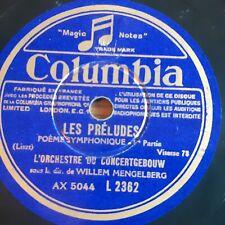 Lot de 5 disques 78 Tours - Liszt - marques COLUMBIA et La Voix de son Maître