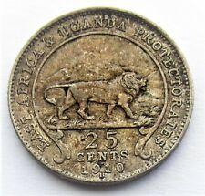 East Africa & Uganda Edward VII 25 Cents 1910 Heaton Mint
