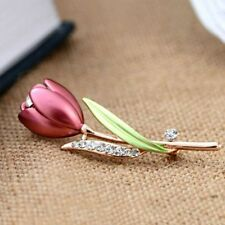 Pins Handmade Tulip Flower Clothing Accessories Jewelry Brooches Crystal