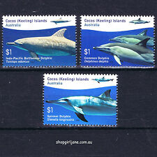 2016 - Australia - Cocos (Keeling) Islands - Dolphins - set of 3 - MNH