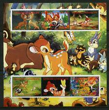 Bambi Disney mnh miniature sheet 6 stamps 2012 Central African RepublicThumper