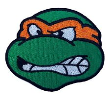 Michelangelo Patch Embroidered Badge TMNT Ninja Turtles MIKEY Costume Cosplay