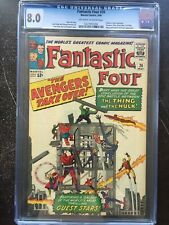 FANTASTIC FOUR #26 CGC VF 8.0; OW-W; Thing vs Hulk conclusion; Avengers x-over!