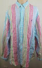 POLO RALPH LAUREN Mens Summer/Beach Multicolor Striped Long Sleeve Shirt Sz XXL