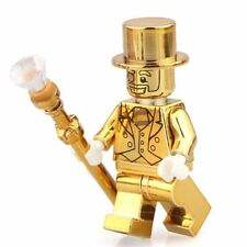 CUSTOM Chrome Lego MR GOLD Minifigures series 10 - Ninjago Marvel Super Hero DC