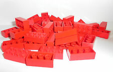 Lego base piedra pieza 50 2x4 rojo red Basic Brick 3001 300121