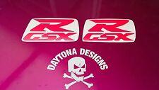 GSXR DAYGLOW RED CUSTOM DESIGN GRAPHICS DECALS STICKERS FAIRING PANEL
