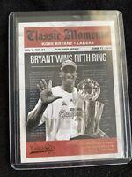 2010-11 Panini Classics Basketball Kobe Bryant Classic Moments # 9 5th Ring Card