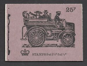 1972 Veteran Cars 25p Stitched Machin Booklet SG DH47 As Scanned Post Free(UK)