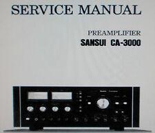 SANSUI ca-3000 Vorverstärker Service Manual inkl. BLK DIAGS Schems bedruckt gebunden englisch