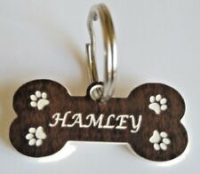 Pet Tag bone shape Collar Tag Id Personalised Custom Id Dog Cat Tag Not Metal