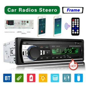 Bluetooth Car Stereo Audio In-Dash FM Aux Input Receiver USB MP3 Radio Player SD